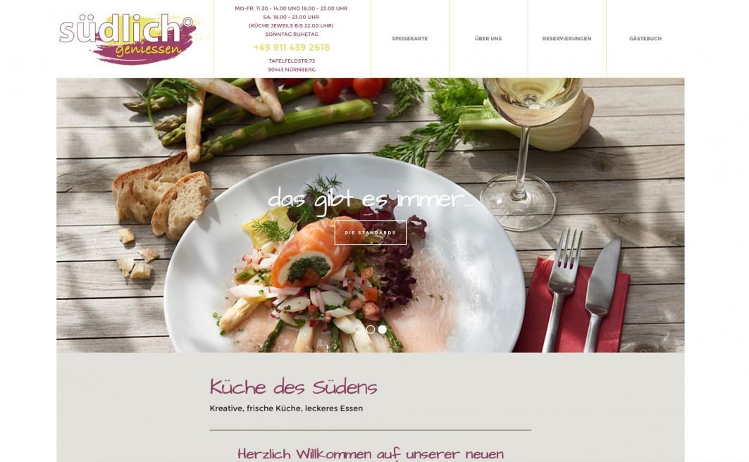 """Neue Website """"Restaurant südlich°"""""""